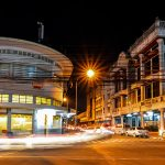 Suasana jalan braga saat malam